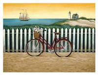 "Cycle to the Beach by Lowell Herrero - 34"" x 26"""