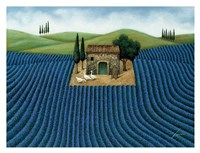 "Lavender Field by Lowell Herrero - 34"" x 26"""