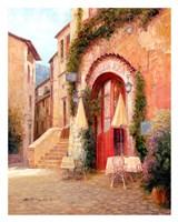 Eze Village Cafe, France Fine Art Print