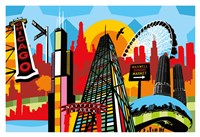 Chicago Bright and Colorful Fine Art Print