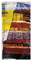 New York Sky III Framed Print