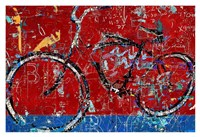 Red Graffiti Bike Fine Art Print