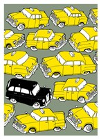 Odd Ones - Black Cab Fine Art Print