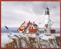 Winter Lighthouse Fine Art Print