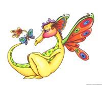 Cheerful - Dragon 10 Fine Art Print