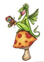 Toadstool Sitter - Dragon Fine Art Print