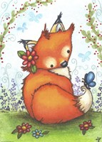 Little Fox in the Garden Fine Art Print