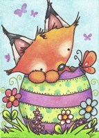Happy Easter Little Fox Fine Art Print