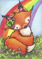 Lucky Little Fox Fine Art Print