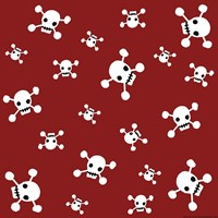 Crossbones Pattern Fine Art Print