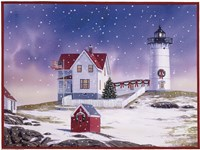 Winter Lighthouse 2 Fine Art Print