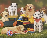 Puppy Play Group by William Vanderdasson - various sizes