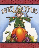 Scarecrow Welcome by Jennifer Nilsson - various sizes