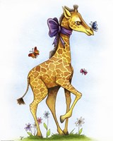 Lovely in Lavender Giraffe by Jennifer Nilsson - various sizes