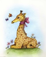 Pretty in Pink Giraffe by Jennifer Nilsson - various sizes