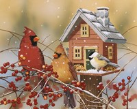 Winter Birds Buffet Fine Art Print
