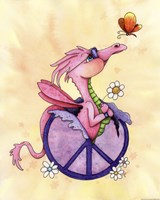 Flower Power Dragon by Jennifer Nilsson - various sizes