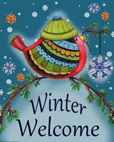 Winter Welcome Bird Fine Art Print