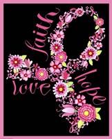 Pink Ribbon Floral by Jennifer Nilsson - various sizes