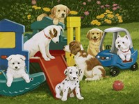 Puppy Playground Fine Art Print