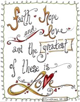 Words of Love - Greatest of These by Jennifer Nilsson - various sizes - $28.99