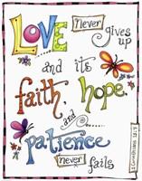 Words of Love - Never Fails Fine Art Print