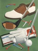 Golf Goodies by William Vanderdasson - various sizes, FulcrumGallery.com brand