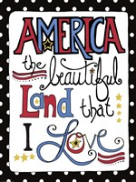 America the Beautiful by Jennifer Nilsson - various sizes - $29.99