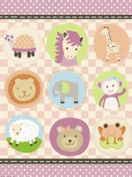 Baby Girl Animal Friends by Jennifer Nilsson - various sizes, FulcrumGallery.com brand