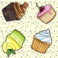 Cupcake Toss Fine Art Print