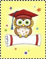 Graduation Owl by Jennifer Nilsson - various sizes