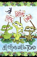 Frog Parking by Jennifer Nilsson - various sizes