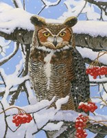 Great-horned Owl by William Vanderdasson - various sizes, FulcrumGallery.com brand