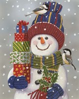 Snowman With Presents by William Vanderdasson - various sizes, FulcrumGallery.com brand