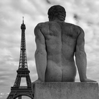Eiffel and Man Fine Art Print