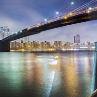 Brooklyn Bridge Pano 2 2 of 3 by Moises Levy - various sizes