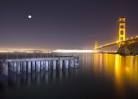Golden Gate Pier and Stars by Moises Levy - various sizes