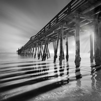 Pier and Shadows Framed Print