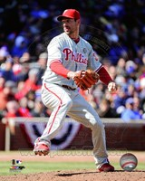 Cliff Lee on field 2014 Fine Art Print
