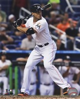 Giancarlo Stanton 2014 Action Framed Print