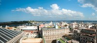 Buildings in a city at the waterfront viewed from a government building, Obispo House, Mercaderes, Old Havana, Havana, Cuba by Panoramic Images - various sizes
