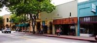 Stores at the roadside, Downtown San Luis Obispo, San Luis Obispo County, California, USA by Panoramic Images - various sizes - $42.49