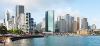 Apartment buildings and skyscrapers at Circular Quay, Sydney, New South Wales, Australia 2012 Fine Art Print
