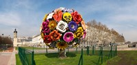 Flower tree sculpture at Place Antonin Poncet, Lyon, Rhone, Rhone-Alpes, France Fine Art Print