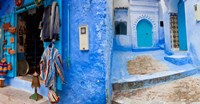 Store in a street, Chefchaouen, Morocco by Panoramic Images - various sizes - $47.99
