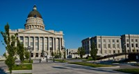 Facade of a Government Building, Utah State Capitol Building, Salt Lake City, Utah Fine Art Print