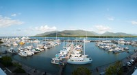 Boats at a marina, Shangri-La Hotel, Cairns, Queensland, Australia by Panoramic Images - various sizes