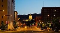 Utah State Capitol Building at Night, Salt Lake City, Utah Fine Art Print