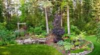 Backyard garden in Loon Lake, Spokane, Washington State, USA by Panoramic Images - various sizes