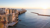 Town at the waterfront, Vieste, Gargano, Foggia Province, Puglia, Italy by Panoramic Images - various sizes